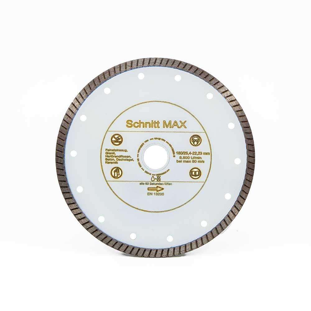 Diamant Trennscheibe SCHNITTMAX F/ür alle harten Fliesen /& Feinsteinzeug /ø 180 mm x 22,2 mm