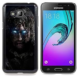 SKCASE Center / Funda Carcasa protectora - Glowing Eyes Guerrero;;;;;;;; - Samsung Galaxy J3 GSM-J300