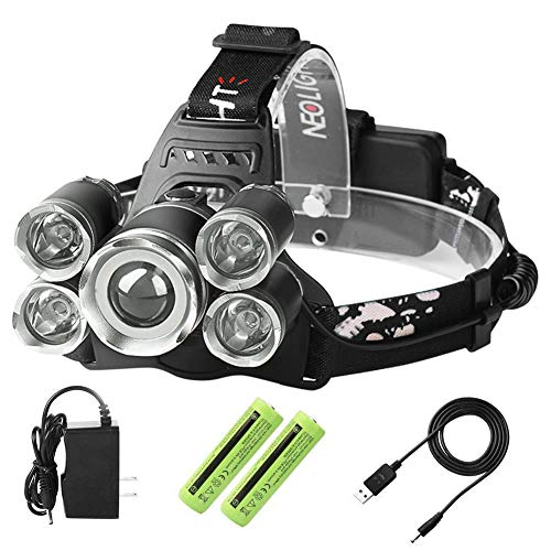 Laluztop USB Rechargeable LED Headlamp, Super Bright Waterproof Headlight, Zoomable 4 Modes Flashlight for Outdoor Camping Hiking Cycling Fishing Hunting Dog Walking Reading by Laluztop