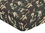Sweet Jojo Designs Green Camo Fitted Crib Sheet for