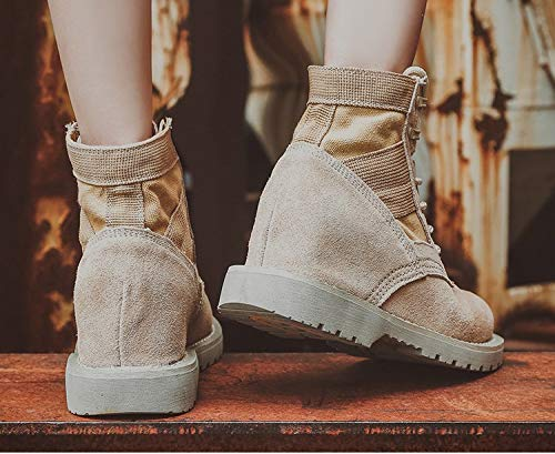 KJHVOS Damen Stiefel Stiefel Stiefel Martin Stiefel Erhöhen Stiefel Frauen Herbst Winter Dünn 57014b