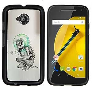 Stuss Case / Funda Carcasa protectora - Goth Emo Zombie - Motorola Moto E2 E2nd Gen