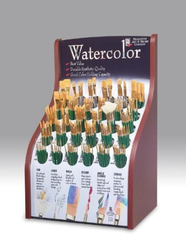 221-Pc Good Synthetic Sable Watercolor and Acrylic Brush Display by Alvin and Company