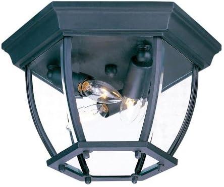 Acclaim 5602bk Sd Flush Mount Collection 3 Light Ceiling Mount Outdoor Light Fixture Matte Black