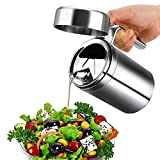 Oil Dispenser,Shrimp Stainless Steel Olive Oil Dispenser Oil Can Leak Proof Oil Storage with Lid Edible Oil container Salad Dressing for Kitchen Cooking/Restaurant/BBQ (1000ml)