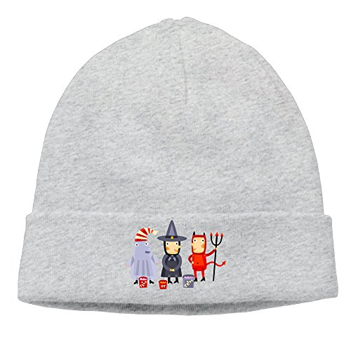 DETO Men's&Women's Halloween Patch Beanie CampingAsh Hats