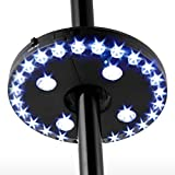 Patio Umbrella Light 28 Led Lights Cordless Garden Light Battery Powered Outdoor Balcony Umbrella Pole Lights Mounted 3 Light Mode Dimming Switch for Umbrella Camping or Playing Cards