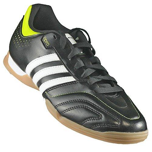 Adidas 11Questra IN Indoor Fußballschuhe Hallenschuhe schwarz/weiß/grün