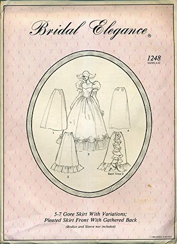 Bridal Elegance #1248 5-7 Gore Skirt with Variations