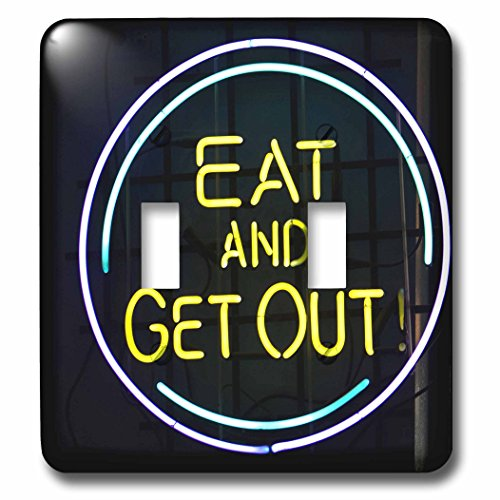 3dRose lsp_90167_2 Illinois, Chicago. Humorous Neon Sign At A Diner - Us14 Bja0055 - Jaynes Gallery - Double Toggle Switch