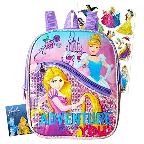 Disney Princess Toddler Preschool Backpack Set - Bundle Includes 10 Inch Princess Mini Backpack and Stickers (Disney Princess School Supplies)
