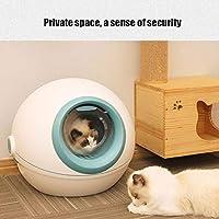 LEZDPP La Basura Puede esférica Completamente cercado Grande del Gato higiénico Caja de Arena automática Grandes Suministros Espacio for Mascotas (Color : Pink): Amazon.es: Hogar
