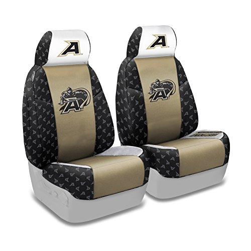 Coverking Front 50/50 Bucket NCAA Licensed Custom Fit Seat Cover for Select Volvo 240/245 Models - Neosupreme (U.S. Military - U S 245