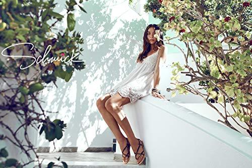 pour bohèmes la en Sandales Plates Main Marron grecques Chics Artemis Chaussures Faites Naturel Femme à Cuir d'été Schmick CHXFwxXq