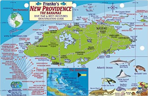 New Providence Bahamas Dive Map Reef Creatures Guide Franko Maps