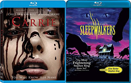 Stephen King Sleepwalkers + Carrie horror Blu-ray Collection 2 Movie Bundle Double Feature Set