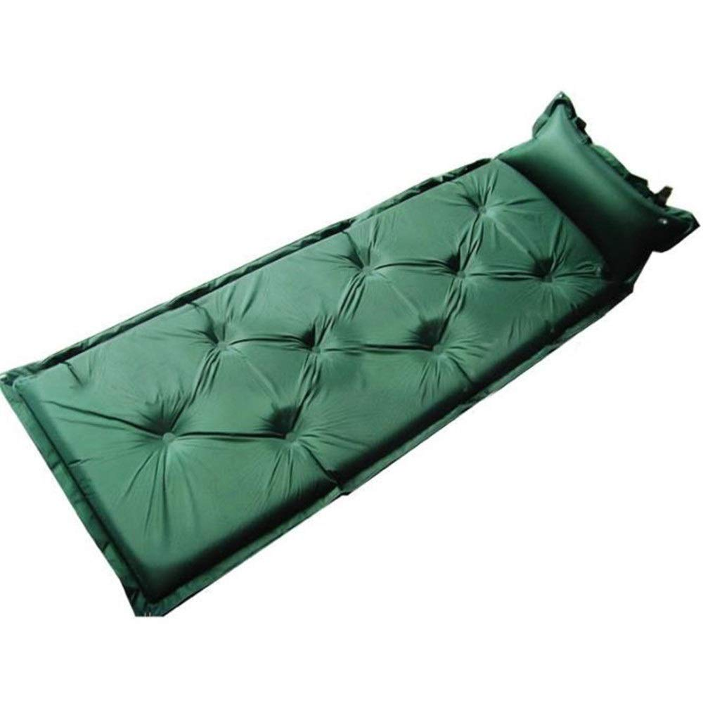 Green 7222.440.98inches Air Sleeping Camp Sleep Pad Single Camping Pad SelfInflating Compact Foam Sleeping Bag Mat Splicing With Attached Pillow Waterproof Lightweight Inflatable Outdoor Air Cell Mattress For Backpacking, H