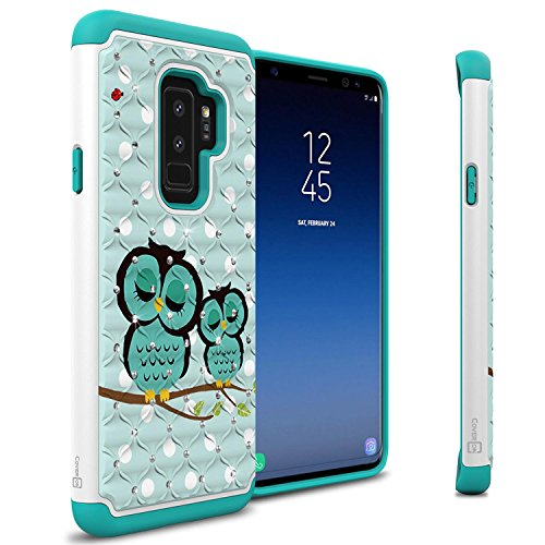 CoverON Aurora Series Samsung Galaxy S9 Plus Case for Women & Girls, Protective Hybrid Shock Absorbing Bling Phone Cover - Cute Owl Design ()