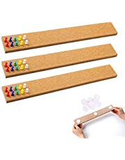 """3 Pcs Bulletin Strip Cork Strip Cork Bulletin Bar Strip Natural Frameless Cork Board Strips with Strength Adhesive Backing for Office, School, Home Holiday Decor 15"""" X 2""""- 1/2"""" Thick"""