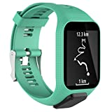 Watch Strap Aobiny Replacement Silicone Band Strap for TomTom Runner 2 / Runner 3 Sport GPS Watch (Mint Green)