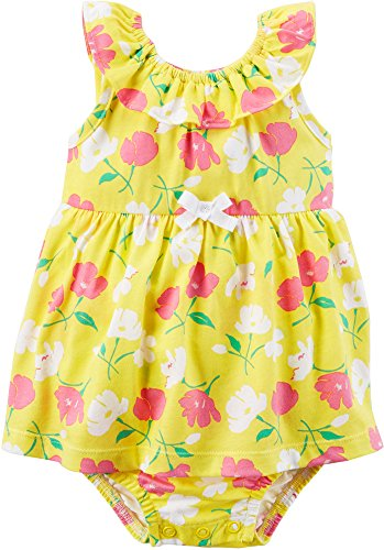 Carter's Baby Girls' Sleeveless Floral Print Sunsuit 6 Months