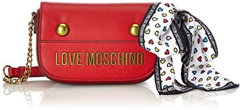 LOVE MOSCHINO ACCESSORI Borsa Love Moschino JC4345PP05K60500 Grain Pu Red Ecopelle con Foulard SS 18