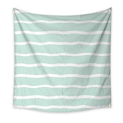 Peachy Amazon Com Mint Dorm Room Tapestry Horizontal Wavy Lined Download Free Architecture Designs Scobabritishbridgeorg