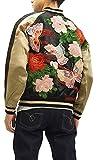 Script Japanese Souvenir Jacket SSJ-021 Butterflies Men's Sukajan (X-Large)