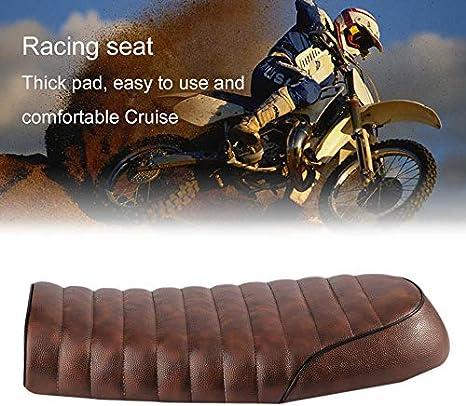 Si/ège universel de caf/é en cuir imperm/éable matelass/é avec /éponge universel pour moto Honda CG Series