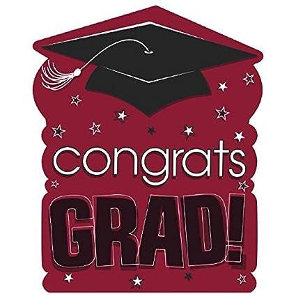amazon com amscan congrats grad graduation party large cutout