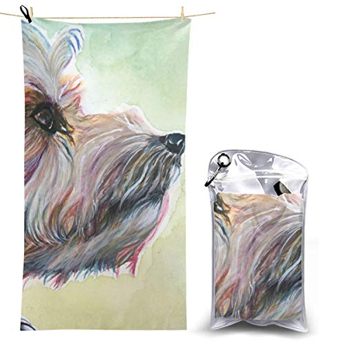 Beach Towels, Yorkshire Terrier Quick Dry Towel Blanket, 27.5'' X 51'' Sand Free Towels Absorbent for Bath, Travel, Spa, Swim