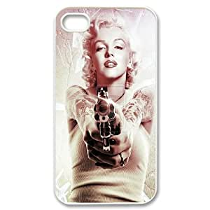 Custom Colorful Case for Iphone 4,4S, Marilyn Monroe Cover Case - HL-537634