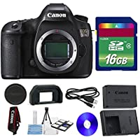 Canon 5DS DSLR Camera + 16 GB SDHC Memory Card + Camera Body Cap + 6 PC Cleaning Kit - International Version