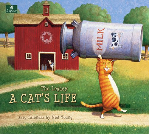Legacy Publishing Group, Inc. 2015 Wall Calendar, A Cat's Life by Ned Young - Folk Calendars Wall Art 2015