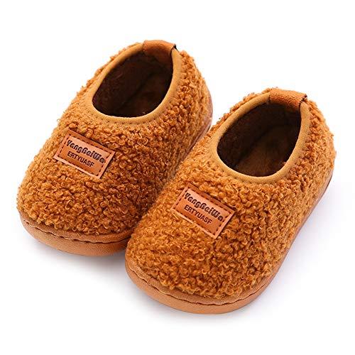 Maison Innerlength18cm Chaud Baotou Garde Brown Chaussures Brun Pantoufles Yangyongli Coton De Mute Dessinée Belle Bande qOwSFI