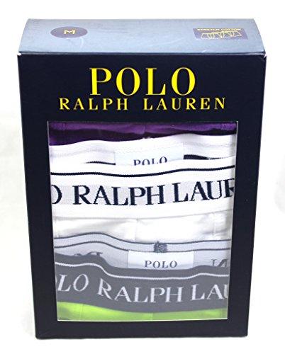 Ralph Lauren Polo Boxer Shorts Tronchi Biancheria intima 3 Pack verde Viola Cotone Bianco