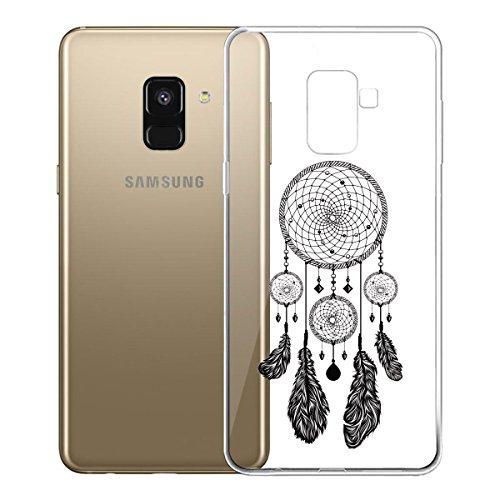 Funda para Samsung Galaxy A8 2018 (SM-A530) , IJIA Transparente Love Pony TPU Silicona Suave Cover Tapa Caso Parachoques Carcasa Cubierta para Samsung Galaxy A8 2018 (5.6) WM22