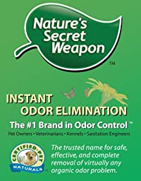 Nature\'s Secret Weapon Pet-Dog-Cat Urine Stain and Odor Remover Economical 16 oz. Concentrate Makes (2) 32oz Spray Bottles
