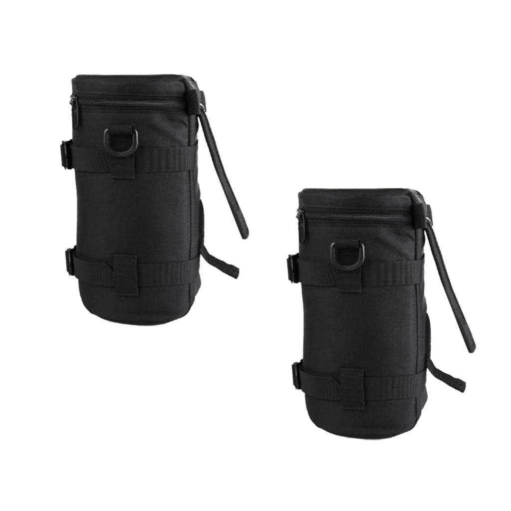 Dovewill 2Pieces Dustproof Camera Lens Bag Protective Pouch Storage Case Cover for DSLR