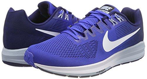 De 21 Para Structure Armoury Nike Zapatillas Blue white binary Running Zoom Blue Blue mega Hombre Air Azul light xqXqwtnU