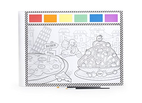 Kikkerland Paint Your Own Placemats (Sets of 24), White