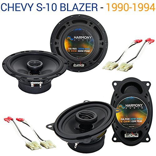 Fits Chevy S-10 Blazer 1990-1994 OEM Speaker Upgrade Harmony R46 R65 Package ()