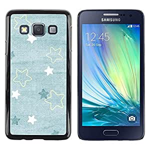 Be Good Phone Accessory // Dura Cáscara cubierta Protectora Caso Carcasa Funda de Protección para Samsung Galaxy A3 SM-A300 // Baby Blue Cute Wallpaper Pattern