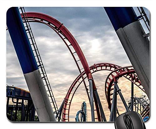 Mouse Pads - Roller Coaster Dusk Fun Amusement Roller Coaster