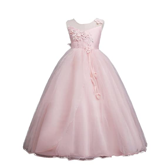 Moda Fina Baby Girl Party Wear Ball Gown For Birthday Girls Knee