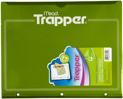 Trapper Plastic Folder with Customizable Cover, Green (33220)