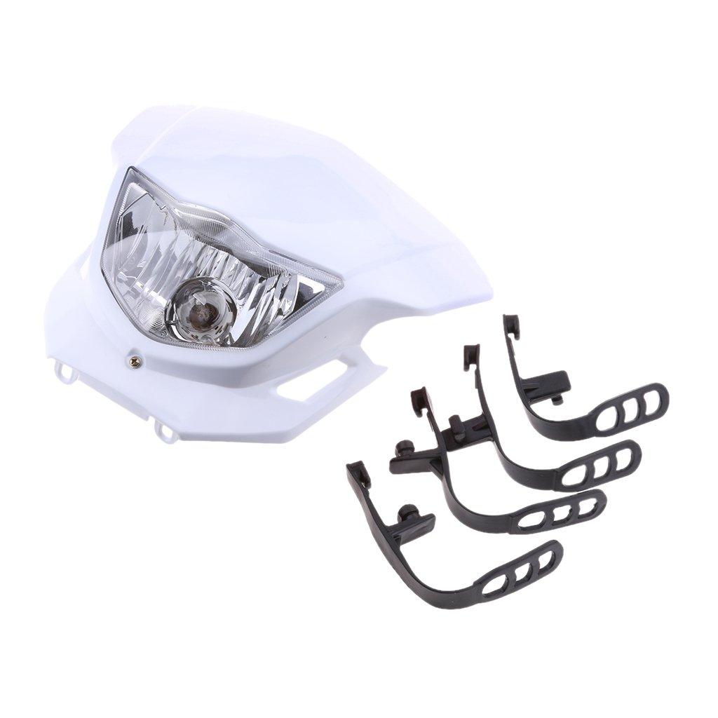 Gazechimp Moto Phare Universel LED Clignotant Caré nage Blanc Mount Bracket Support