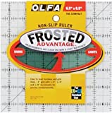 """Olfa Frosted Advantage Non-Slip Ruler """"The"""