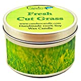Fresh Cut Grass, Super Scented Soy Candle Tin (6 oz)
