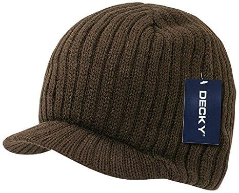 Decky Knit Visor Beanie Campus Jeep Cap Black)